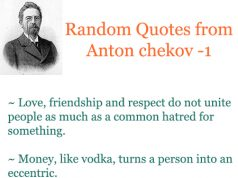 Anton chekov quotes part 1