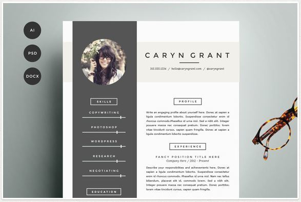 resume templates for modern women and men