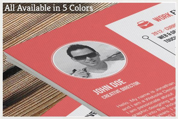 colorful cv templates bundle
