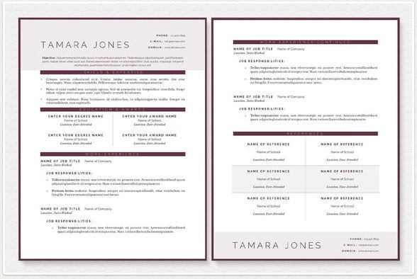 great docx modern resume templates by JannaLynnCreative