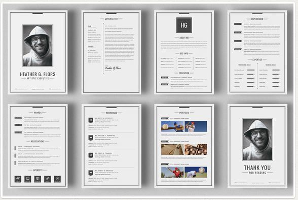 8 page extended best resume templates for modern job hunt