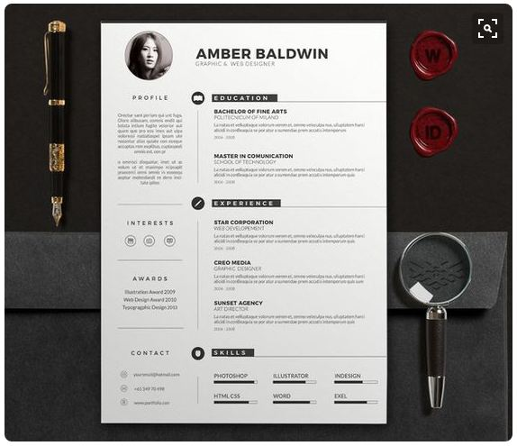 cv and resume docx clean design estrashop