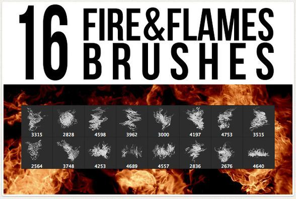 16 Fire & Flames Brushes