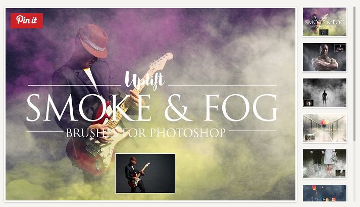 Smoke & Fog Brushes for Photoshop by Uplift Actions