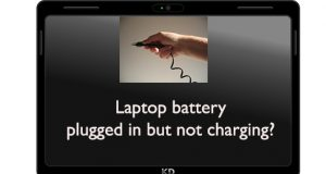 Laptop plugged in not charging