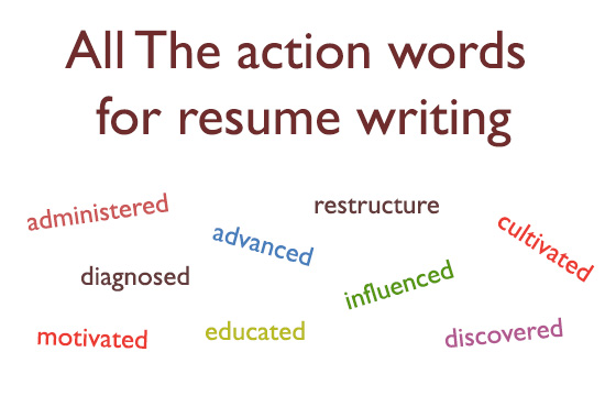 Action Verbs For Resume Or Resume Action Words List