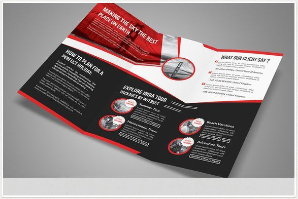 Travel brochure templates for travel agencies texty cafe for One fold brochure template