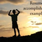 Resume accomplishments examples for better resume