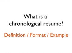 What is a chronological resume definition and chronological resume example