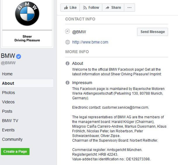 BMW - About_facebook_Impressum_example