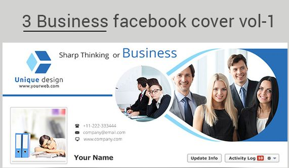 3 business facebook cover template