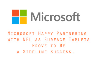 Microsoft Happy Partnering with NFL as Surface Tablets Prove to Be a Sideline Success