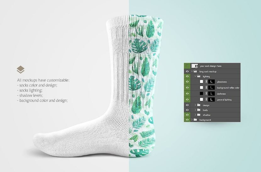 27+ Socks Mockup PSD Templates for Cool Showcase