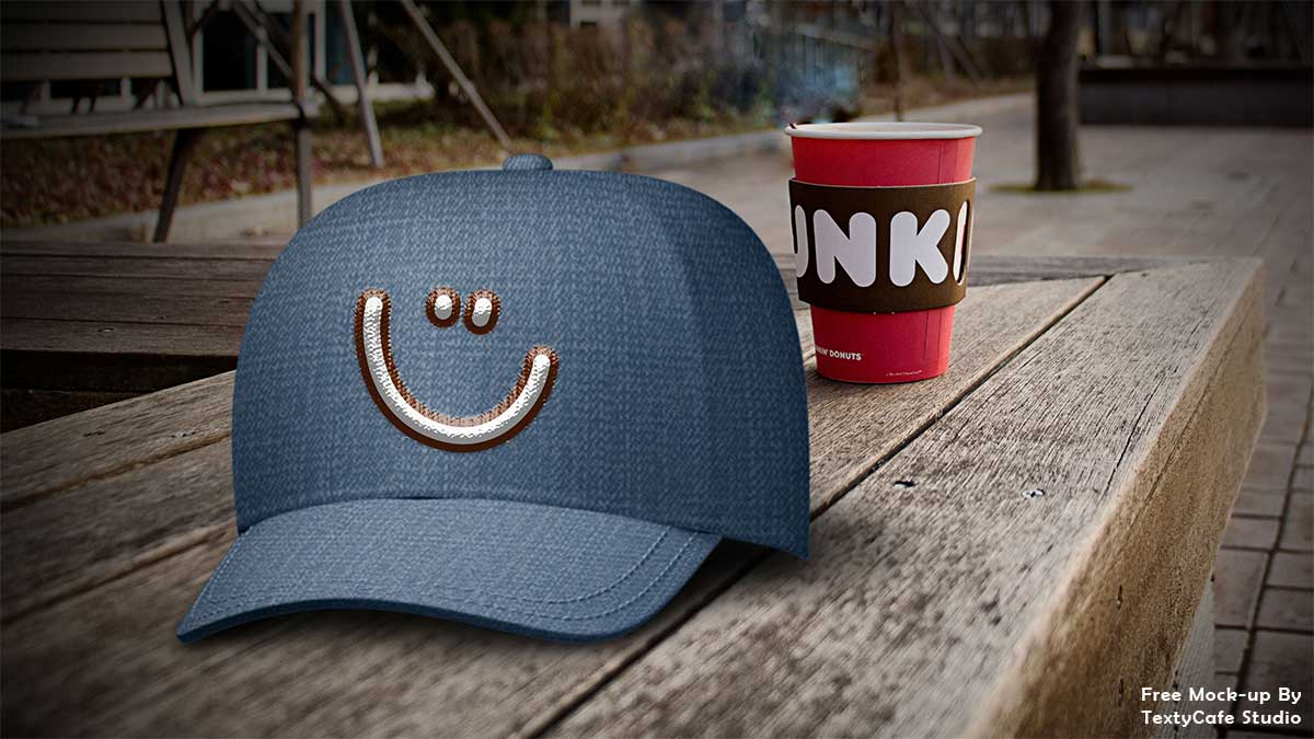 free dad hat mockup psd template