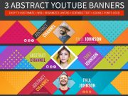 3 abstract YouTube banner psd