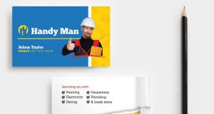 Handyman plumbing Business Card Template