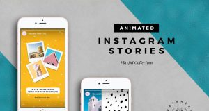 Playful Instagram Stories templates with funky design