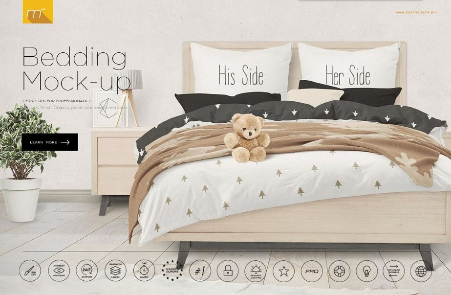 Bedding Mockup design