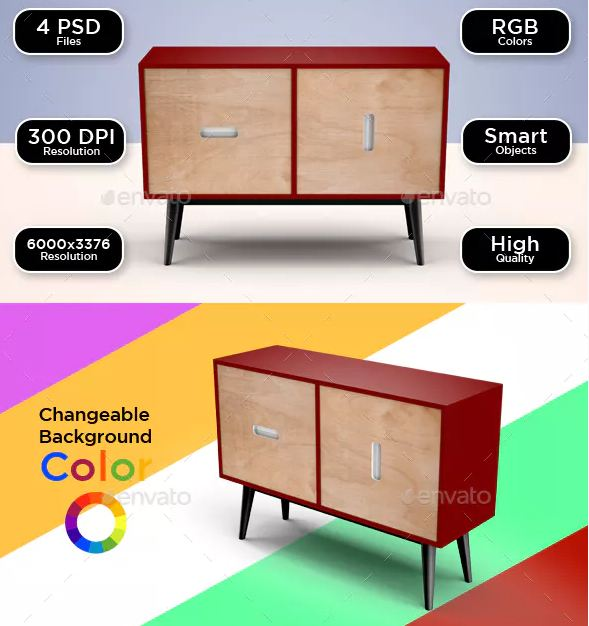 Cabinet Furniture Mockup