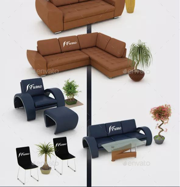 Premium furniture mockup