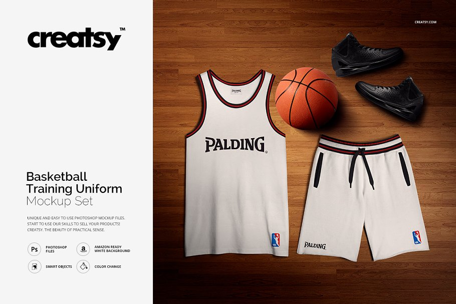 Basketball shorts template