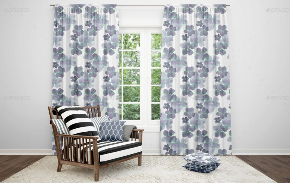 13+ Curtain Mockup Templates for Rooms, Shower