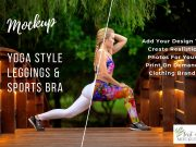 Leggings and Sports Bra Mockup PSD