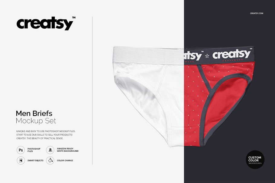 Men Briefs Mockup PSD