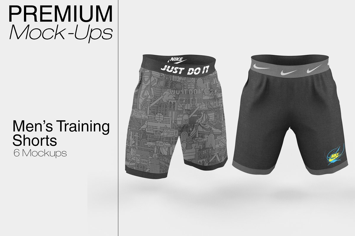 Men's Training Shorts Mockup PSD