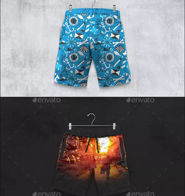 Shorts Boxer Briefs Template
