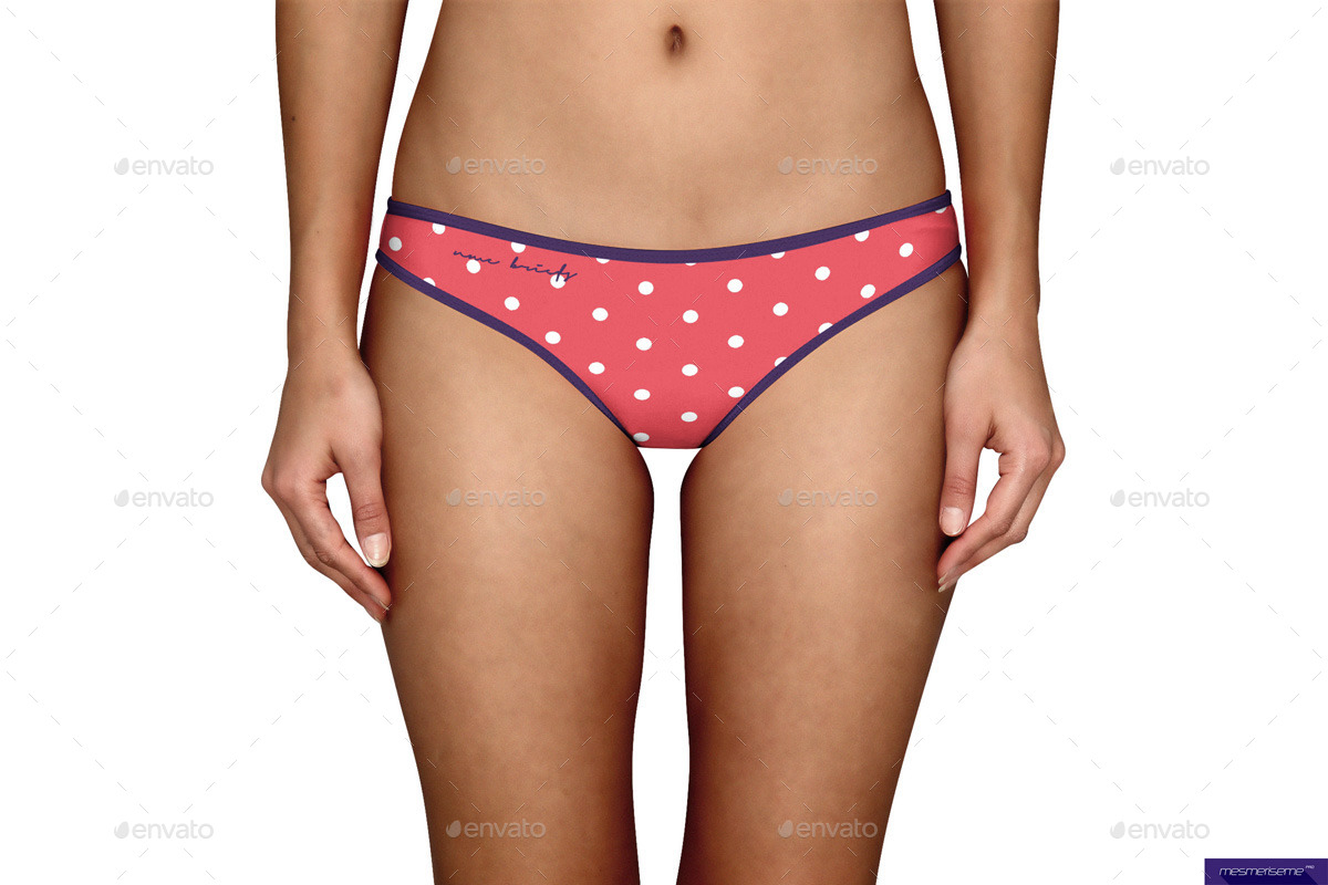Women Briefs Mock-up Template