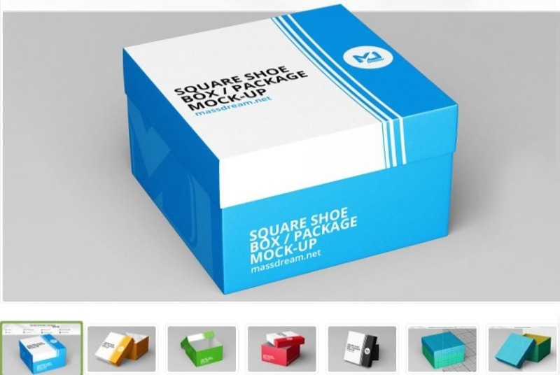 Another square Shoe Box Design Template
