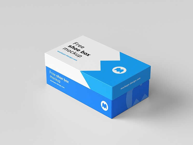 Complete shoe box design template (Free)