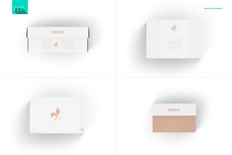 Detailed mockup for footwear packaging (9 PSD)
