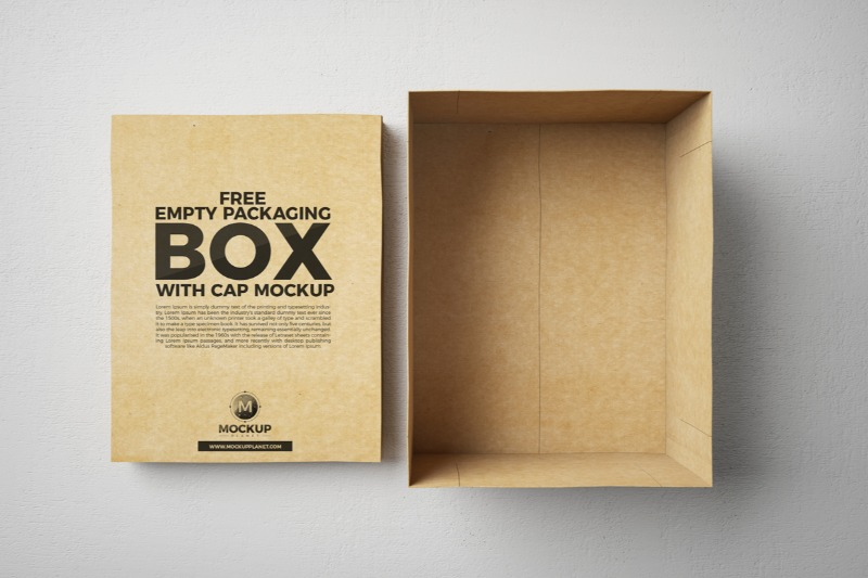 Empty Shoe Packaging Box Design Template (Free)