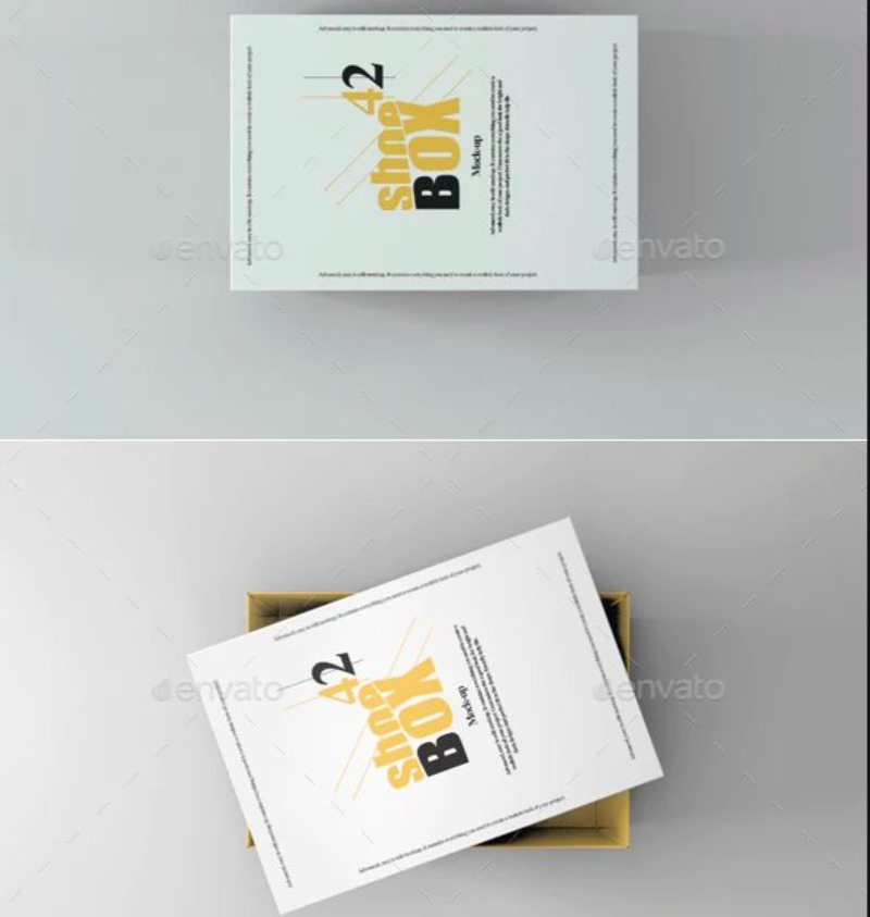 Psd Shoe Box By 89PixeL