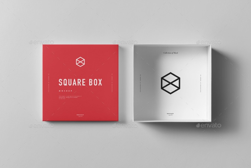 Square Shoe Box Mockup by yogurt86