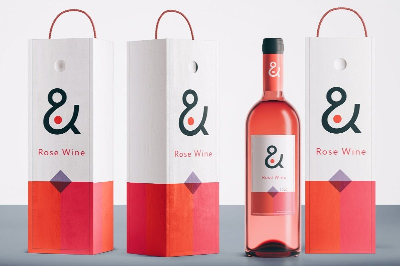 15 Wine Box Mockup & Packaging PSD Templates