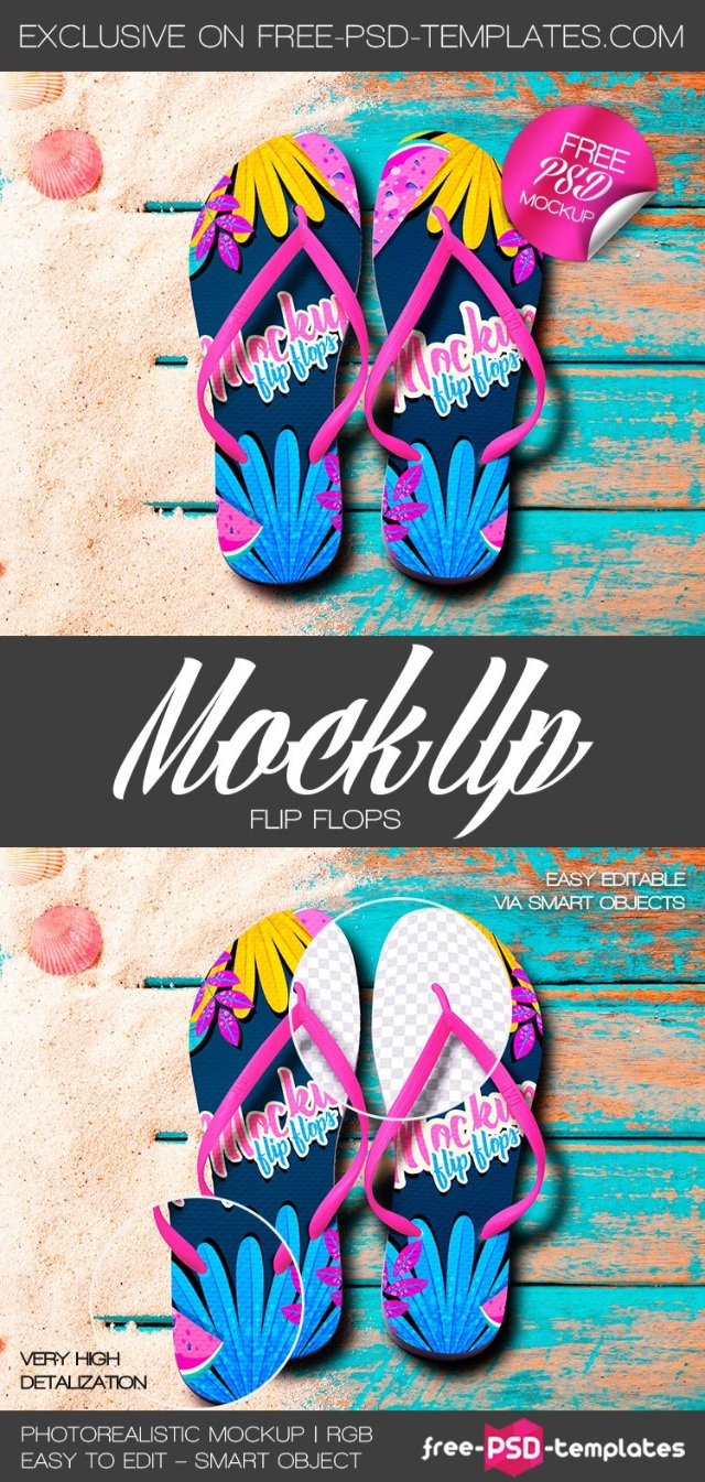FREE FLIP FLOPS MOCK-UP IN PSD (Free)