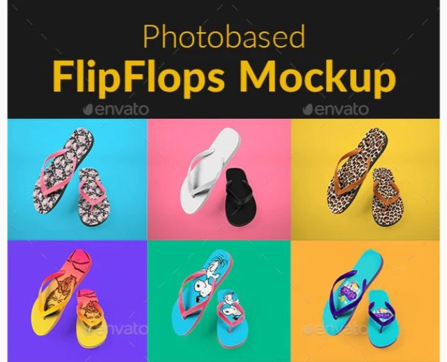 FlipFlops Mockup by TeddyGraphics