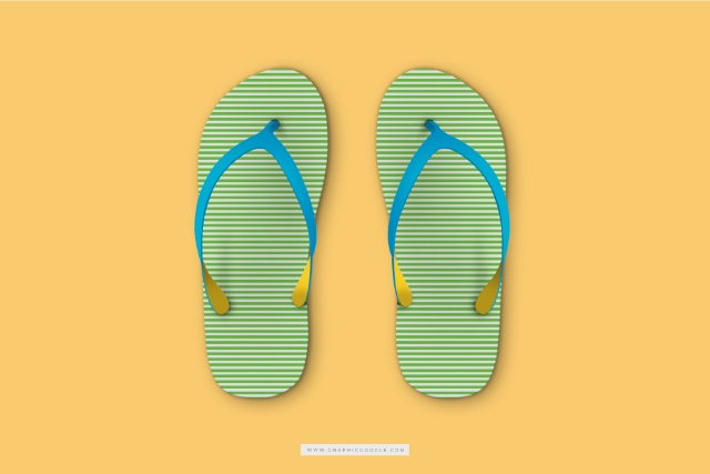 Free Beach Slippers Mockup PSD Template (free)