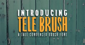 Free Tele Brush Condensed Brush Font thumb