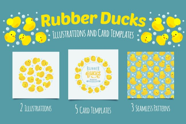 Rubber Ducks Invitation Template 2