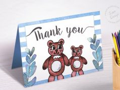 Watercolor Teddy Bear Baby Shower 3