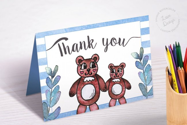 5 Printable teddy bear baby shower invitations templates