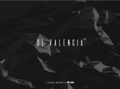 Free De Valencia Cinematic Display Font featured image